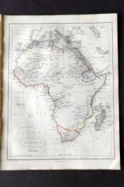 Barclay C1850 Antique Map. Africa
